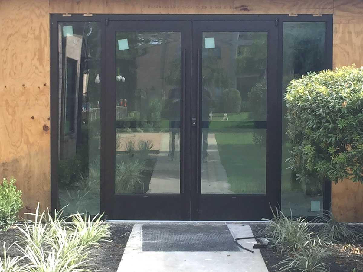 Commercial Storefront Glass Doors : M i glass inc houston